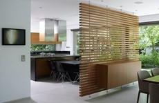 10 ý tưởng chia phòng khách và bếp không cần tường cực độc