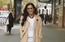 Hoa hậu Tiểu Vy mặt mộc dạo phố Paris