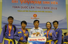 Giải Vovinam sinh viên toàn quốc kết thúc hấp dẫn