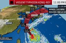 Trami vừa đi, thêm siêu bão Kong-rey trực chỉ Nhật Bản