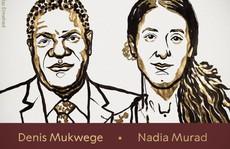 Nobel Hòa bình 2018 vinh danh 'chiến binh' chống bạo lực tình dục