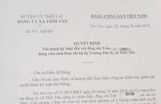 Tố cáo chủ tịch xã, chủ tịch Hội Cựu chiến binh tiếp tục gặp rắc rối