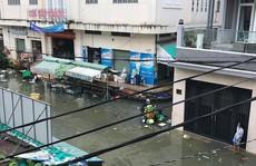 Cận cảnh ngập lụt trong nhà, ngoài ngõ ở TP HCM
