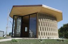 Nhà xây bằng công nghệ in 3D làm từ... bùn