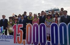 15 triệu lượt khách quốc tế đến Việt Nam