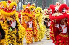 108 con lân đồng diễn, xếp hình Quốc kỳ xác lập kỷ lục Guinness Việt Nam