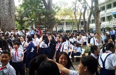 Cháy trường Lê Quý Đôn, hàng trăm học sinh nháo nhào