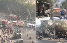 Trung Quốc: Xe tải lao lên vỉa hè, 18 người bị thương