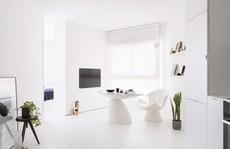 Căn hộ 42m² rộng thênh thang nhờ màu trắng tinh khôi