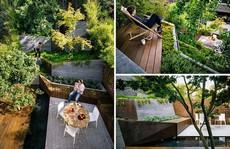 Khu vườn thiết kế kiểu ruộng bậc thang ai thấy cũng mê
