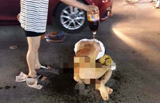 Vụ cô gái bị lột sạch đồ đổ nước mắm, bột ớt: Có tin nhắn qua lại