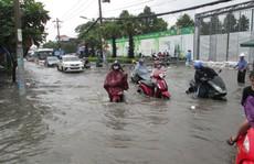 TP HCM: Đường ngập nặng, giao thông hỗn loạn sau 1 trận mưa