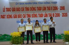 Báo Người Lao Động đạt giải B Giải Báo chí tỉnh Đồng Tháp lần thứ II