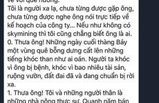 Nhà đầu tư gởi tâm thư 'đẫm nước mắt' cho ông Lê Minh Tâm Sky Mining