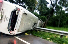 Lật xe khách Thành Bưởi do cây đổ, 31 hành khách hoảng loạn