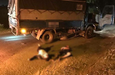Va chạm xe tải, anh em sinh đôi 17 tuổi thương vong, xe máy cháy rụi