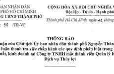 TP HCM: Lãnh đạo sở nông nghiệp nhận tiền 'hỗ trợ' của Công ty Thủy Lợi