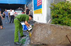 Phát hiện một công ty giặt công nghiệp xả trực tiếp chất thải ra môi trường