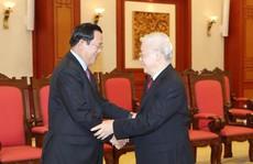 Tổng Bí thư, Chủ tịch nước tiếp Thủ tướng Campuchia Hunsen