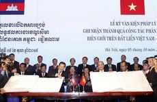 Việt Nam và Campuchia đã phân giới cắm mốc 1.045/1.245 km đường biên giữa hai bên