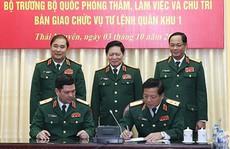 Điều động, bổ nhiệm 5 tướng lĩnh quân đội trong các vị trí Tư lệnh Quân khu