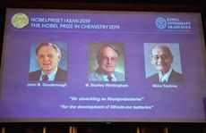 Nobel Hóa học 2019 vinh danh 'bước tiến lớn của nhân loại'
