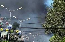 Cháy dữ dội ngay trung tâm thị xã Gò Công, tỉnh Tiền Giang
