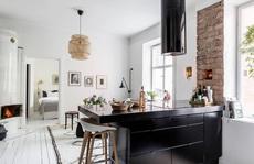 Căn hộ 45m² sáng bừng với sắc trắng bao trùm, đồ nội thất nổi bật