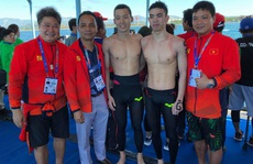 Trần Tấn Triệu và tấm HCV trên đường bơi 10.000m