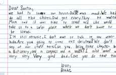 Lá thư đẫm nước mắt gửi ông già Noel: 'Cho cháu một người cha tốt nhé?'