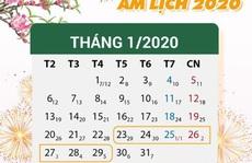 Công chức, viên chức, NLĐ được nghỉ 14 ngày vào các dịp lễ, Tết trong năm 2020
