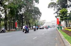 Một đoạn đường Lê Duẩn ở trung tâm TP HCM cấm xe 4 ngày