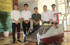 Sinh viên thiết kế máy gom rác đa năng