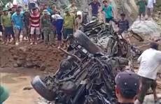 Phát hiện ô tô chở 2 sĩ quan biên phòng đi giúp dân bị lũ cuốn trôi từ năm 2017