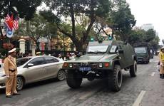 Triển khai xe bọc thép bảo vệ an ninh Hội nghị Thượng đỉnh Mỹ-Triều Tiên