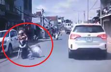 Công an vào cuộc truy tìm tài xế ôtô đánh phụ nữ giữa đường