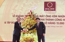Tôn Hoa Sen khánh thành nhà máy ống kẽm nhúng nóng 85.000 tấn