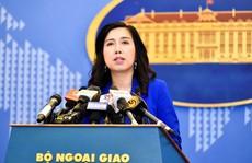 Trao công hàm phản đối Trung Quốc xây thành phố trên đảo của Việt Nam