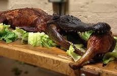 Nhà hàng ở Mỹ phục vụ món cá sấu nguyên con