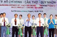 Thủ tướng Nguyễn Xuân Phúc dự lễ khai trương 3 đường bay mới từ Hải Phòng