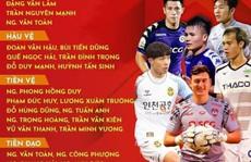 Những cái tên gây sốc khi HLV Park công bố danh sách dự King's Cup 2019