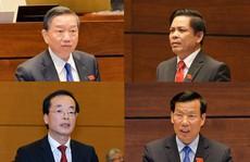 'Chốt' 4 Bộ trưởng 'đăng đàn' trả lời chất vấn Quốc hội