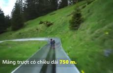 Thót tim với máng trượt siêu tốc trên sườn núi ở Thụy Sĩ