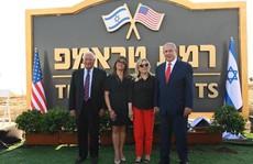 Ông Trump phấn khích vì thị trấn mới ở Cao nguyên Golan mang tên ông