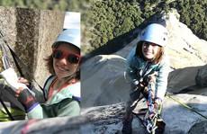 Bé gái 10 tuổi chinh phục núi đá dựng đứng