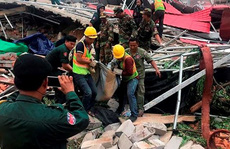 Campuchia: Sập nhà của chủ đầu tư Trung Quốc, 28 người thương vong