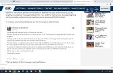 'Messi Thái Lan' dùng tiếng Việt xin lỗi Văn Hậu sau bình luận quá trớn