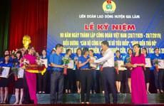 Hà Nội: Biểu dương 90 cán bộ Công đoàn cơ sở tiêu biểu