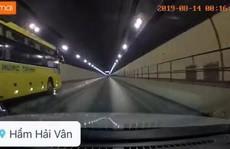 Tước bằng lái, phạt 2,5 triệu đồng đối với tài xế vượt ẩu trong hầm Hải Vân