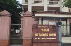 Kỷ luật Chủ tịch HĐND thành phố và Trưởng ban Tổ chức Thành ủy Hà Tĩnh